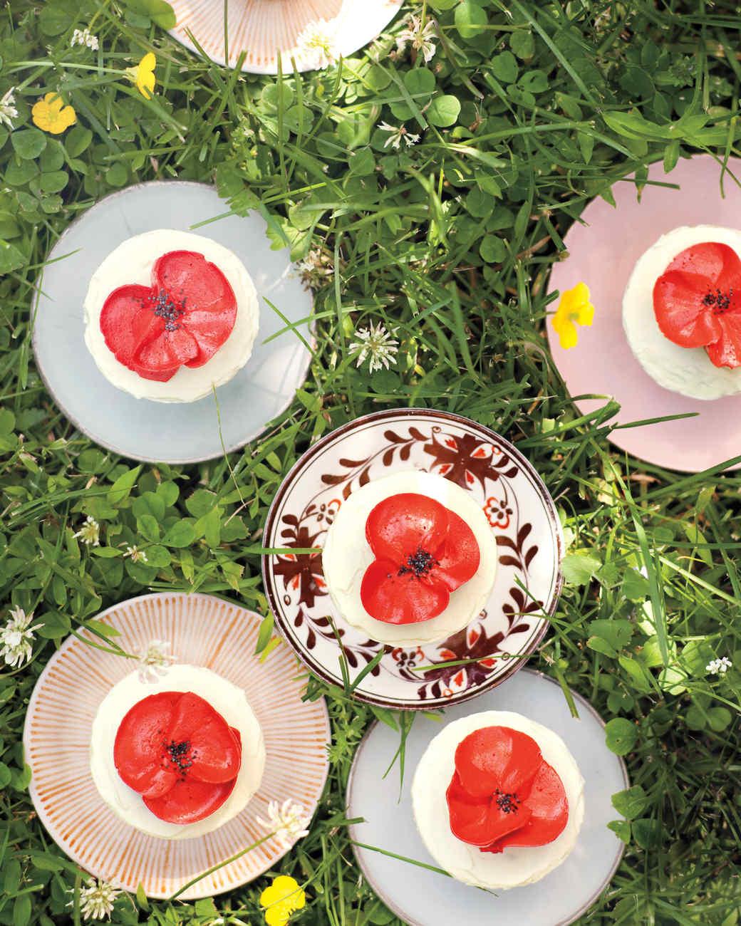 Orange poppy seed cupcakes